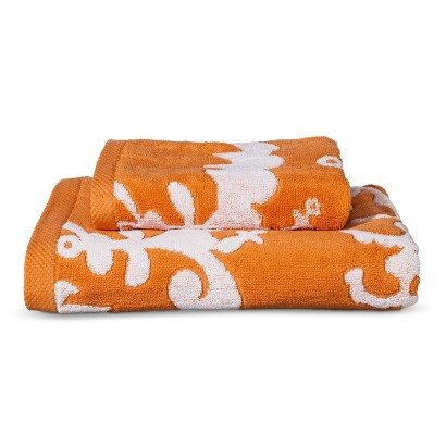 Modern Floral 2pc Towel Set