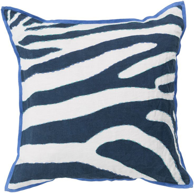 Navy Rain Forest Pillow