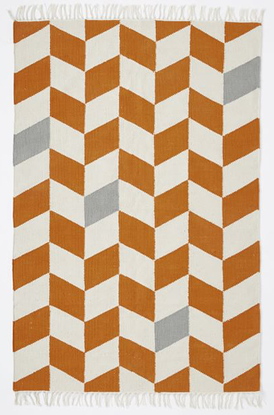Offset Chevron Cotton Dhurrie