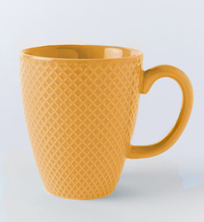 Orange Textured Mugs