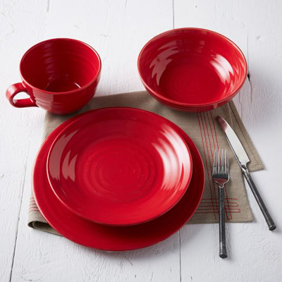 Red Crafted Dinnerware