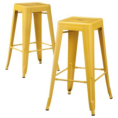 Carlisle Yellow Metal Bar Stools