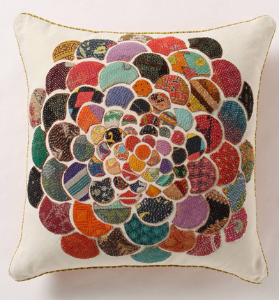 Flower Orimono Pillow
