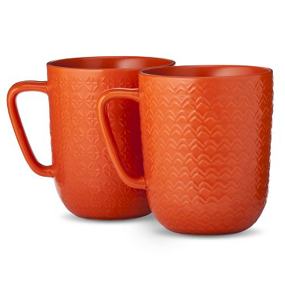 Orange Coffee Mug Set