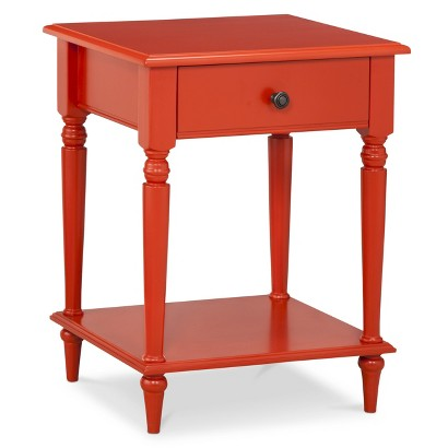Orange Turned Leg Table
