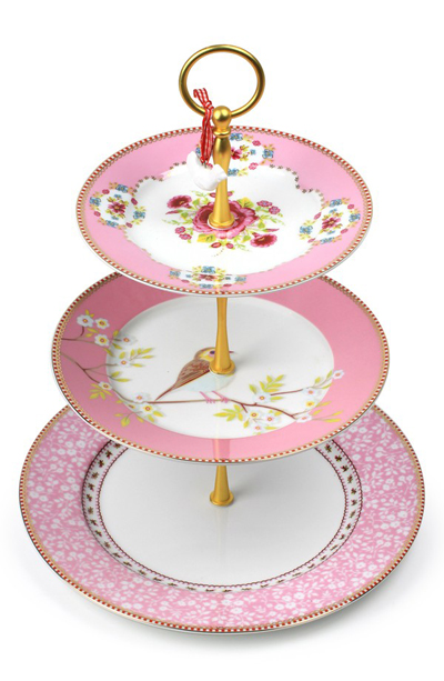 PiP studio Tiered Porcelain Cake Stand