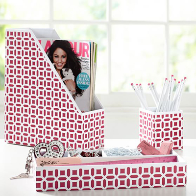 Pink Peyton Desk Accessories Set