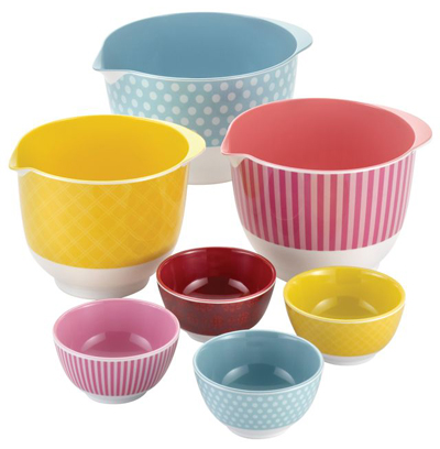 7 Piece Melamine Mixing and Prep Bowl Set