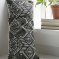 Black and White Rectangle Pillow
