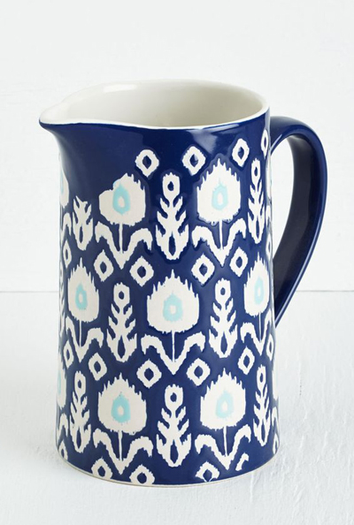Ikat Ceramic Pitcher