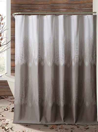 Neutrals bath decor by color Nature inspired shower curtains
