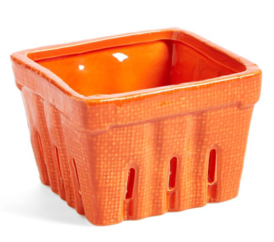 Orange Stoneware Basket