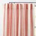 Red Striped Curtain Panel