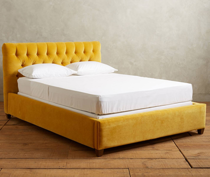 Velvet Tufted Lena Bed
