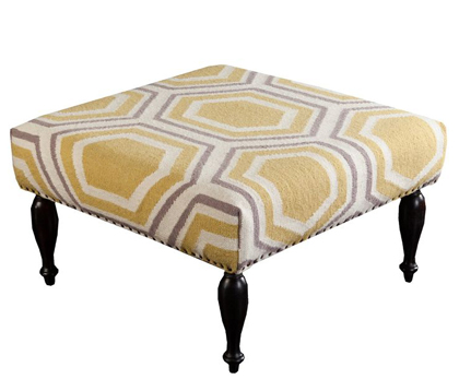 Yellow Hexagon Fallon Ottoman
