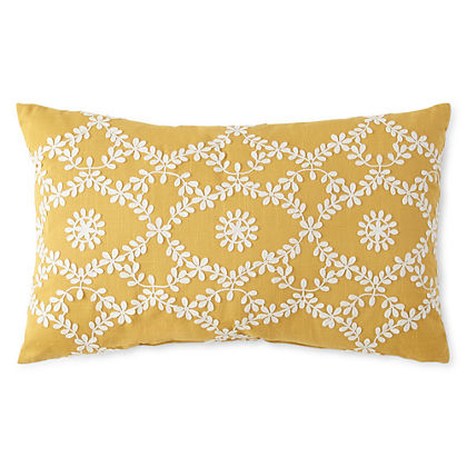 Abby Floral Oblong Decorative Pillow