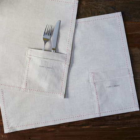 Belgian Linen Pocket Placemat Set