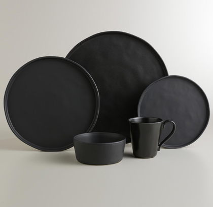 Black Organic Dinnerware Collection