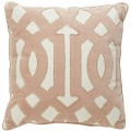 Blush Velvet Scroll Pillow