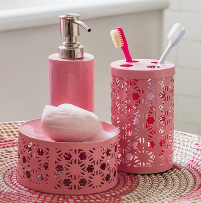 Floral Bath Accessories Collection