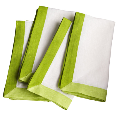 Green Trimmed Napkins
