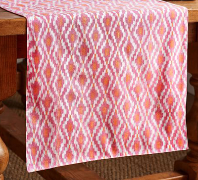 Isa Ikat Yarn Dye Table Runner