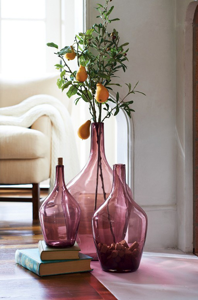 Purple Demijohn Floor Vase