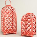 Red Ethel Cutout Lantern