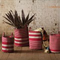 Red and Natural Storage Baskets