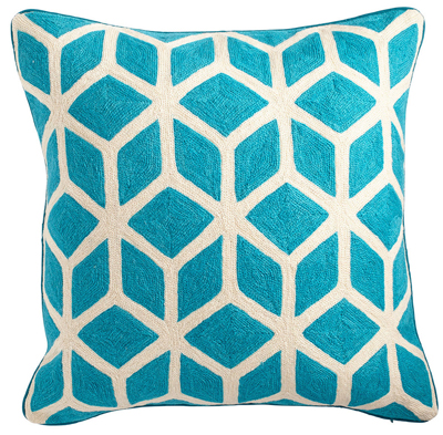 Turquoise Cubed Pillow Cover