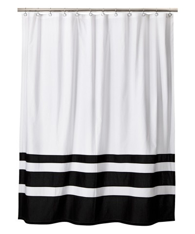 Black & White Color Block Shower Curtain