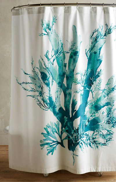 Turquoise And Coral Shower Curtain. Gingko Shower Curtain Turquoise Curtains  Decor by Color