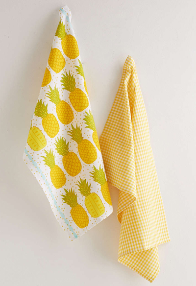 Pineapple Tea Towel Set