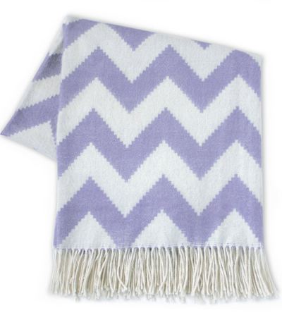 Purple Zig Zag Alpaca Throw