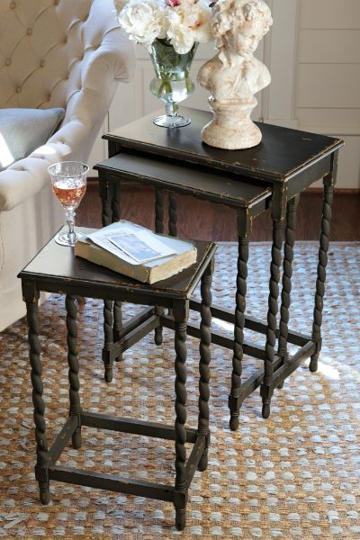 Black Riviera Nesting Tables