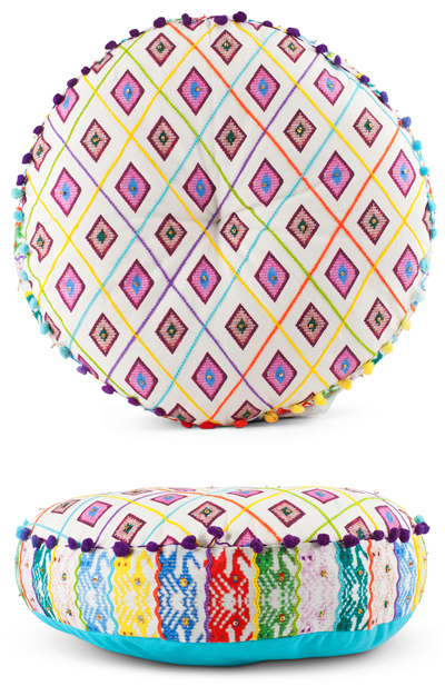 Sitara Embroidered Round Cushion