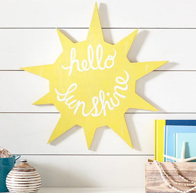 Sun Sentiment Art Plaque