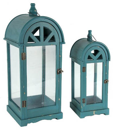 Teal Large Lantern Set
