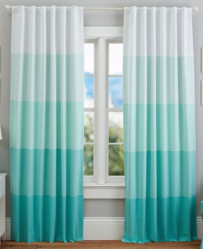 Curtains Ideas blackout striped curtains : Turquoise Striped Curtains - Rooms