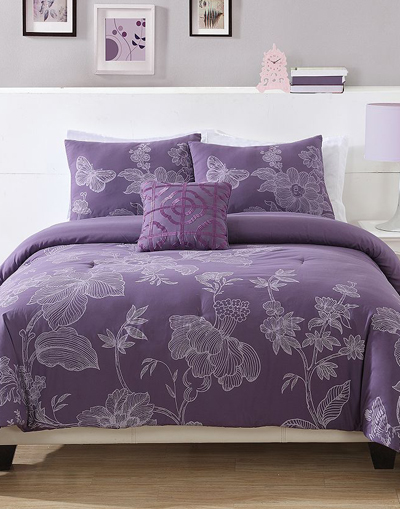Etched Floral Bedding Coordinates