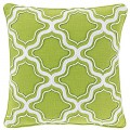Green Charlotte Square Fishnet Decorative Pillow