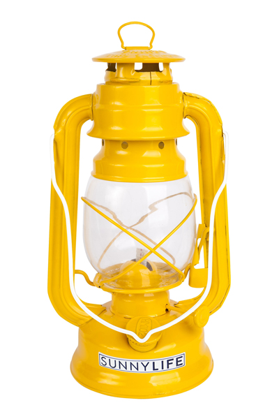 Hurricane Lantern in Vibrant Yellow