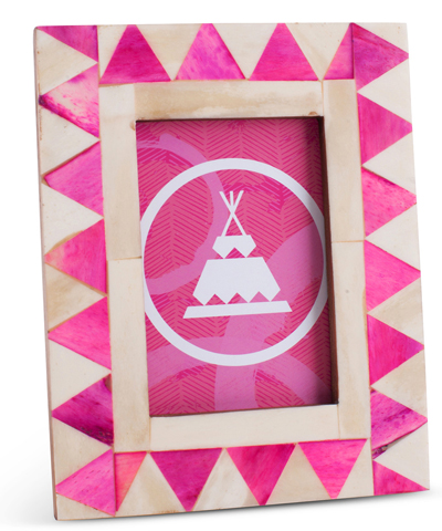 Pink Pyramid Tribal Bone Frame
