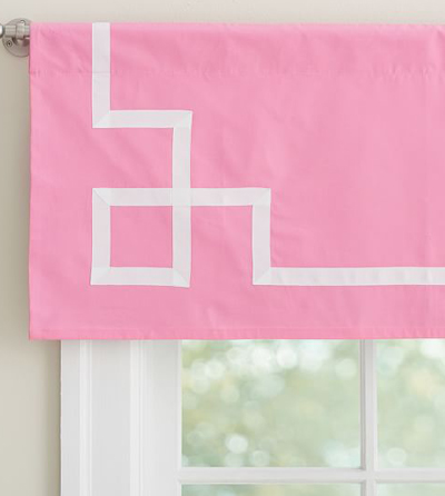 Pink Ribbon Trim Valance