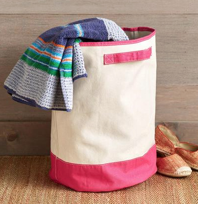 Pink Seafarer Canvas Tote