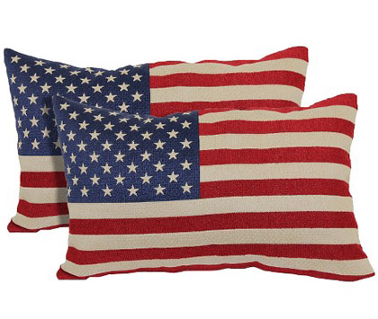 American Flag 2 Pack Toss Pillow