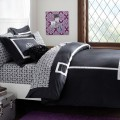 Black Ribbon Trim Duvet Cover