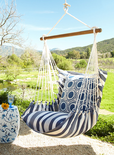 Blue Swinging Chair
