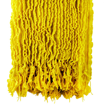 Charlotte Yellow Ruffled Throw