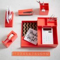 Coral Color Pop Office Accessories
